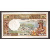 Таити (Французская Полинезия) 100 франков образца 1969 года. Редкая!