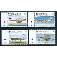 Самолеты Гибралтар 2006 год серия из 4-х марок