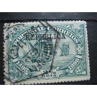 Транспорт, корабли, флот, парусники Португалия марка с надпечаткой