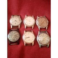 Старые часы, 6шт,рабочие и в ремонт, распродажа коллекции (с рубля) ТРИ ДНЯ