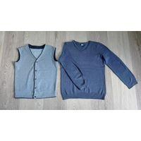 Жилет и пуловер школьный рост 116-134