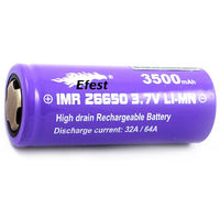 Efest IMR 26650 3500mAh (Purple) 64A 1шт