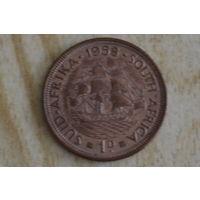 Южная Африка 1 пенни 1958