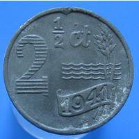 Нидерланды 2 1/2 цента 1941 ZN оккупация (2-60)