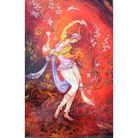 """Иранская миниатюра """"Танцующая девушка"""" для интерьера"""