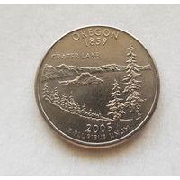 25 центов США 2005 г. штат Орегон P