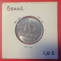 Бразилия 10 сентаво 1981г.