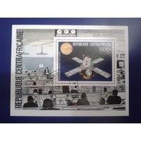 ЦАР 1976 Викинг, полет на Марс блок Mi-2,2 евро гаш.