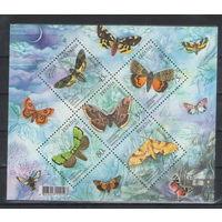 Украина Бабочки 2005 год чистый блок