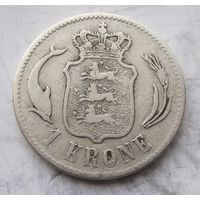 Дания, крона, 1875, серебро