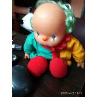 Кукла мягко набивная Клоун ГДР.