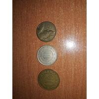 Лот старых монет из Югославии в хорошем состоянии.  БМЦ.  ОБМЕН ЛЮБЫХ ЛОТОВ НА ФАРФОР
