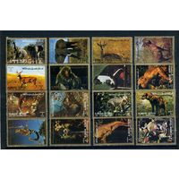 Аджман 1972г, животные, 16м.