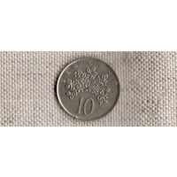 Ямайка 10 центов 1989/флора(Qu)