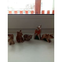 Звери нашего леса, пять миниатюр.