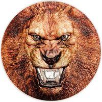 """Танзания 1500 шиллингов 2018г. Третья монета серии: """"Редкая дикая природа: Африканский лев"""". Монета в капсуле; подарочном футляре; номерной сертификат; коробка. СЕРЕБРО 62,27гр.(2 oz)."""