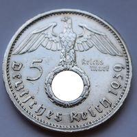 Германия, 5 марок 1939 A (серебро)