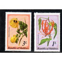 Мальдивы. Ми-837,838 . Флора. Серия: Мальдивские цветы. 1979.