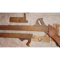 Рубанок фуганок фальцебель. Советское качество , СССР деревянный по дереву инструмент советский
