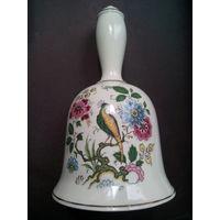 Колокольчик фарфоровый с жар-птицей. Англия