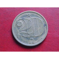Чехословакия 20 геллеров 1973 года.