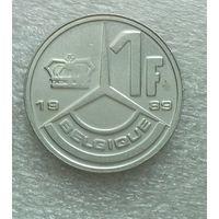 1 франк 1989 Бельгия KM# 170 никелевое покрытие