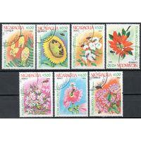 Флора Цветы Никарагуа 1984 год серия из 7 марок