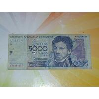 Венесуэла 5000 боливар 2000г.