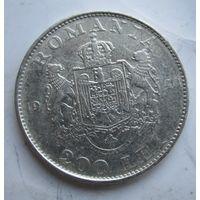 Румыния 200 леев 1942. Серебро  .1Е-62