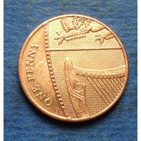 Великобритания 1 пенни 2010