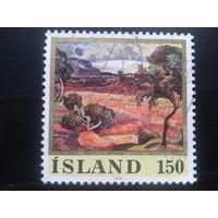 Исландия 1976 живопись