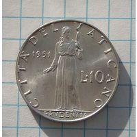 Ватикан 10 Лир 1951 (4)