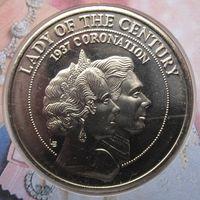 Теркс и Кайкос, 5 крон, 1997, монета-письмо