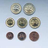 Литва полный набор монет (8 штук) UNC из ролла
