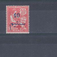 [751] Французские колонии. Марокко 1917. Красный Крест.Надпечатка. МН.