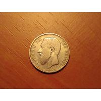 1 франк 1886 год Бельгия DES BELGES