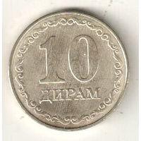 Таджикистан 10 дирам 2019