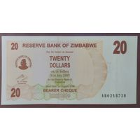 20 долларов 2006 года - Зимбабве - UNC