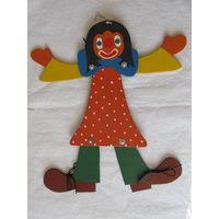 """Кукла - марионетка """"Клоун""""(Англия)-No3"""