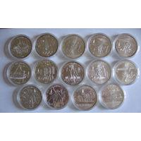 Олимпиада 1980 полный набор 28 монет АЦ