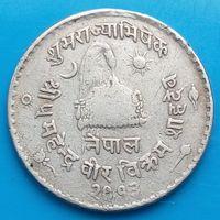 50 пайс 1956 НЕПАЛ - Коронация Махендры Бир Баркама ( памятная )