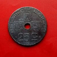 92-29 Бельгия, 25 сантимов 1946 г. (Фламандский тип)