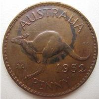 Австралия 1 пенни 1952 г. (u)