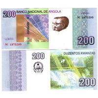 Ангола  200 кванза 2012 год  UNC