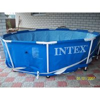 Бассейн большой каркасный с циркуляционным насосом INTEX