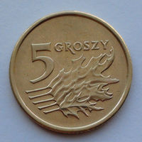 Польша 5 грошей. 2001