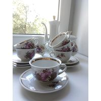 Сервиз кофейный на 6 персон   Бориславский фарфоровый завод Украина