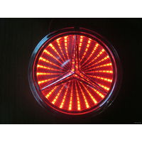 LED логотип автомобиля Mercedes-benz(9.5cm) 3D. Цвет красный.