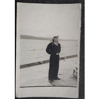 Фото моряка Северного флота. 1954 г. 12х18 см.