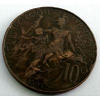 Франция 10 сантимов, 1904  1-9-1
